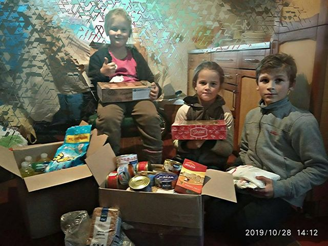 Юрий Ериняк помог многодетной семье Стадник