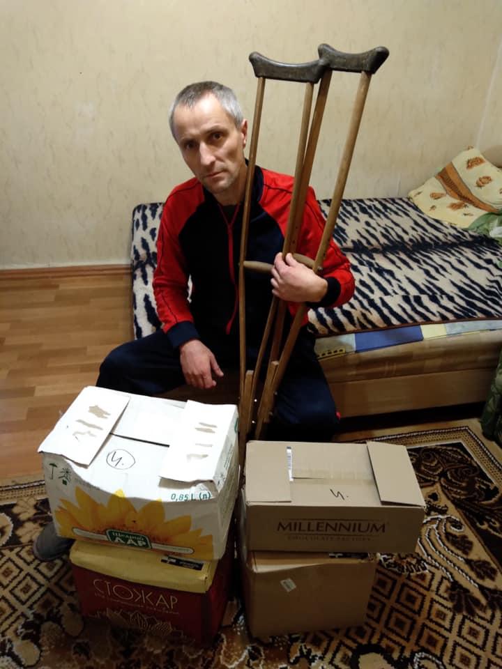 """Юрий Ериняк и фонд """"Хартс"""" старается помогать не только детям, но и одиноким инвалидам."""