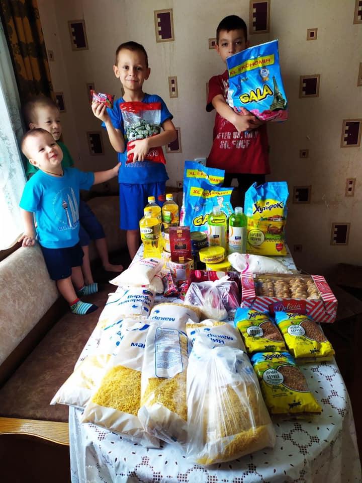 Отправки продуктовых наборов в июле